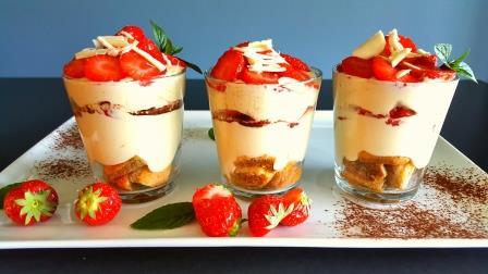Tiramisu med jordbær