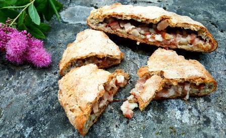 Fleskekake - Brød med bacon