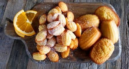 Madeleines with orange